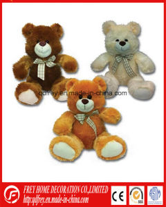 Plush Brown Teddy Bear Toy with Ribbon pictures & photos