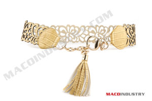 Fashion PU Belt with Chain (Maco273)