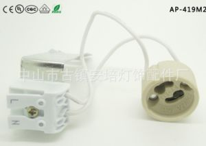 GU10 Lamp Socket with 2sets of Press-in Terminals Block and L Holder