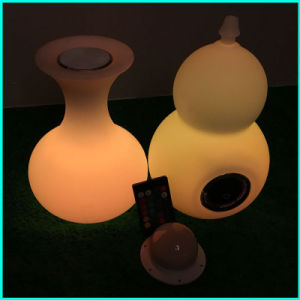 Illuminated Speaker Lighitng Cube Vase Design with Bluetooth Speaker with Lamp pictures & photos