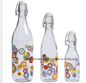 Personalised Sublimation Glass Bottles with Clip Top