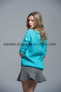 Ladies 100% Acrylic Sweaters Fashionable Knitted Tops Knitted Sweaters pictures & photos