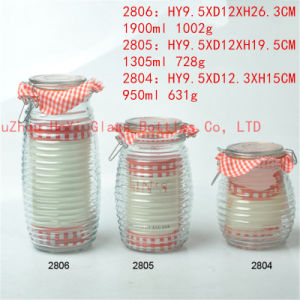 950ml~1900ml Glass Seal Jar Food Glass Jar