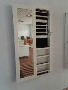 China Dressing Mirror Full Length Wardrobe Jewellery Cabinet Jewelry Rack Multi Function Wall Mounted