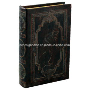 China Vintage Indian Style Mdf Book Box With Thinking Face Gesture