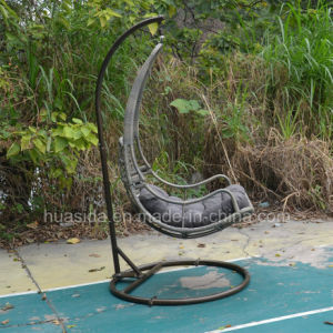 Powder Coated Aluminum Rattan Hanging Chair for Garden pictures & photos