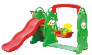 Plastic Toys Slide with Swing (QQ12065) pictures & photos