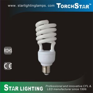 AC220V 23W 27W 30W Half Spiral Energy Saving Compact Flourescent Lamp