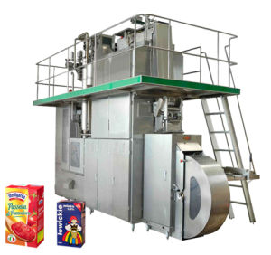 All Stainless Carton Brick Beverage Aseptic Filling Machine Sxb-6000A