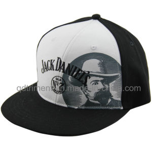 Flat Bill Screen Print Embroidery Baseball Snapback Cap (TMFL7317-2) pictures & photos