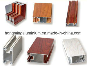 Building Material Extrusion Wood Grain Aluminium Profile