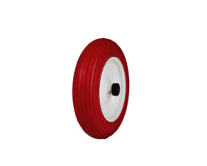 Red PU Foamed Flat Free Tire (RIB13URC-W8250MH300CTZ58PBB) pictures & photos