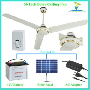 High Speed and Strong Cfm Solar Powered DC 12V Ceiling Fan pictures & photos
