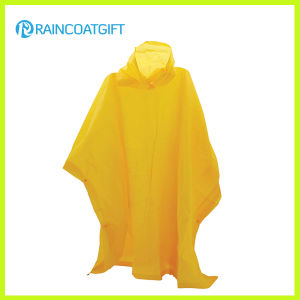 Adult Yellow PVC Rain Poncho pictures & photos