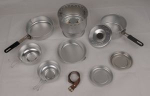 Outdoor Aluminum Cookware Set with Stove pictures & photos