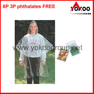 Transparent Rain Poncho, Raincoat for Promotion (YB-205)