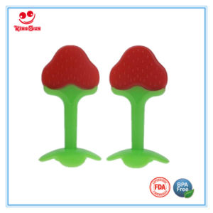 Food Grade Pure Silicone Baby Teether with Fruit Shape pictures & photos
