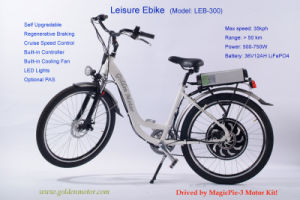 2015 ′ ′ 36V 500W Leisure Electric Bicycle for Women pictures & photos