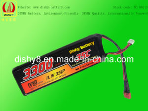 Lipo RC Battery 11.1V 3300mAh 35c RC Helicopter Battery (DS-HM2045133)