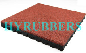 Anti Slip Recycled Rubber Powder Rubber Flooring Tile pictures & photos