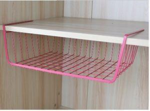 Under Shelf Storage Wire Basket Wrap Rack Holder Kitchen Organizer