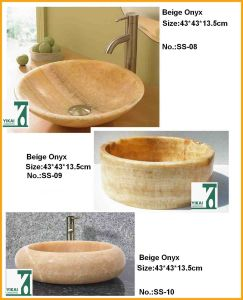 Stone Sink Art Sink, Washbasin, Round Bowl for Bathroom (YKSS-04)