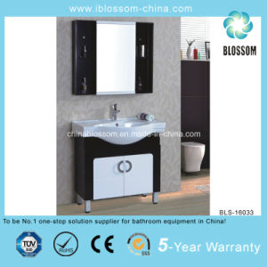 Two Side Cabinets Floor Standing Bathroom Vanity (BLS-16033) pictures & photos