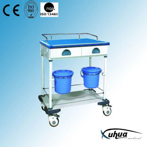 Medical Equipment Trolley with Drawers and Buckets (N-2) pictures & photos