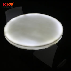 Kingkonree 6mm Decorative White Translucent Resin Stone Solid Surface pictures & photos