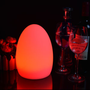 Restaurant Decorative Rechargeable Battery Operated Egg Shape Cordless Led Table Lamp