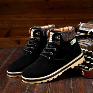 2017 New Winter Cotton Boots Warm Martin Boots Men′s Trend Vintage Suede Snow Boots Martin Boots pictures & photos