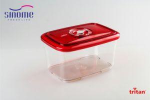 Sinome BPA Free Kitchen Storage Vacuum Container 2.0L Square Vacuum  Sealed  Food Storage Container