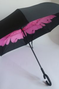 Fancy Double Layer Inside Full Printed Reverse Car Umbrella (MP6019) pictures & photos