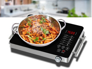 Portable Knob Control + Metal Body Ceramic Hob Cooker with Handle Sm-Dt212 pictures & photos