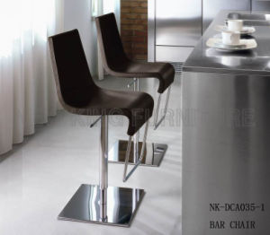 Modern Stainless Industrial Adjustable Stool Swivel PU Bar Chair (NK-DCA035-1)
