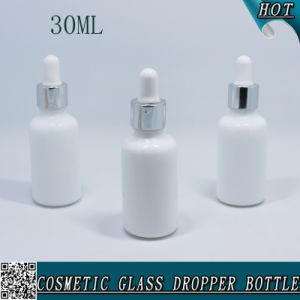 1 Oz 30 Ml Opal White Glass Cosmetic Dropper Bottle pictures & photos