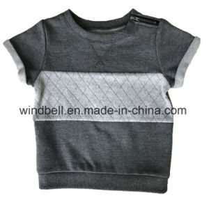 Plain Short Sleeve Fleece Vest Pullover for Kids pictures & photos