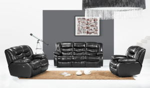 China Classical Lazy Boy Vip Cinema Seating Black Leather Recliner