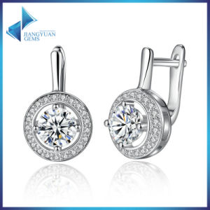 New Platinum Plated Round Shape Full of Love Dangle Alloy Earrings for Women Fashion Jewelry pictures & photos