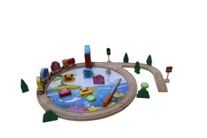 Hot Christmas Sale 40PCS Fishing Wooden Train SetToy for Kids and Children pictures & photos