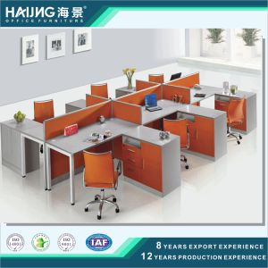 Modern 6 Seater Combined Straight Staff Office Workstation