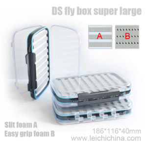 Palstic Fly Box Super Large with Slit Foam pictures & photos