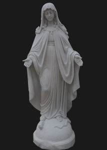 Garden Decoration Stone Carving Holly Virgin Mother Maria Church Statue Sculpture (LL60)