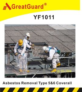 Greatguard Asbesto Removal Type 5&6 Microporous Coverall (YF1011) pictures & photos