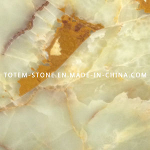 Yellow Natural Onyx Marble Stone For Wall Floor Tile