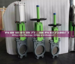 Pn10 Water Treatment Valve Wafer Knife Gate Valve pictures & photos