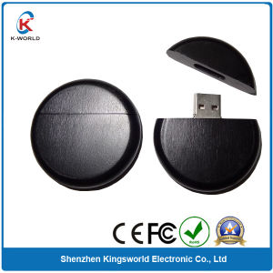 Round Wood USB Flash Memory for 4GB Capacity