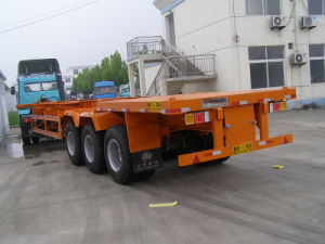 Low Price 40ft Container Skeleton Semi Trailer