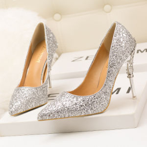 Womens High Heel Leather Stiletto Pointed Off White Wedding Shoes