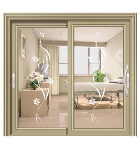 Chinese Building Material Supplier Direct Sales Beautiful Workmanship Aluminum Sliding Glass Door